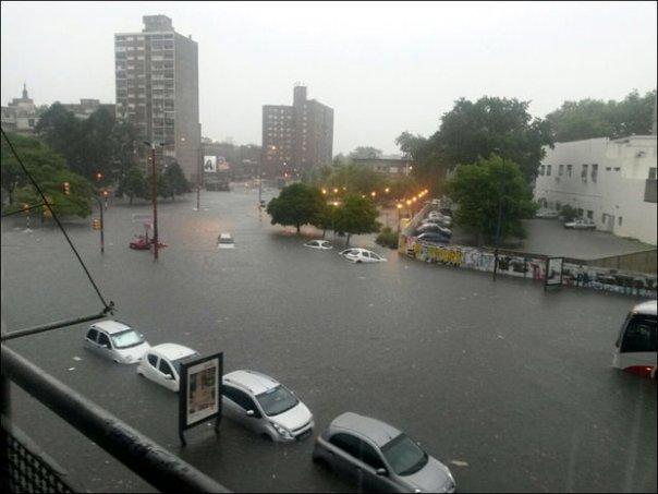 Montevideo bajo agua